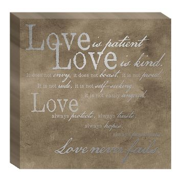 ''Love Is Patient'' Canvas Wall Art