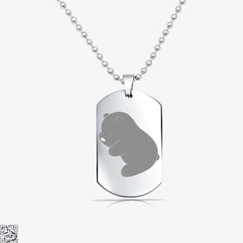 Baby Grizz, We Bare Bears Tag Necklace