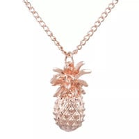 Rose gold pineapple necklace