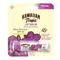 Hawaiian Tropic Lip Balm Stick Sunscreen, SPF 45+ Tropical | Walgreens