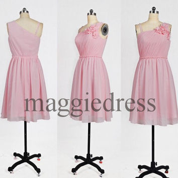 Custom Pink Short Bridesmaid Dresses 2014 Prom Dresses Party Dresses Evening Dresses Wedding Party Dress Homecoming Dresses