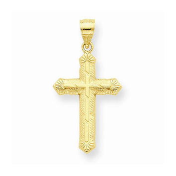 Yellow Gold Polished Passion Cross Pendant