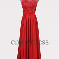 Custom Red Beaded Prom Dresses Evening dresses Formal Party Dresses Wedding Party Dresses Celebrity Dress Homecoming Dress