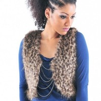 Leopard Fur Vest - Diva Hot Couture