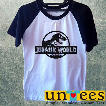 Jurassic World Logo Short Raglan Sleeves T-shirt