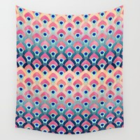 Feathered 1 - Long Wall Tapestry by Elisabeth Fredriksson