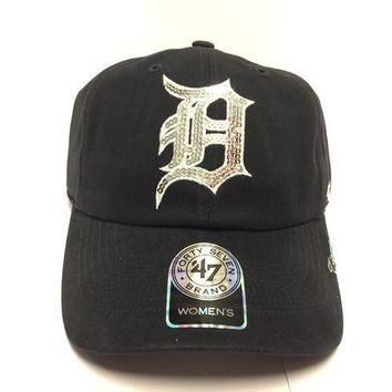 ESBON MLB Detroit Tigers Womens Sparkle Team Hat