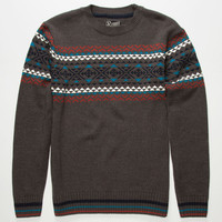 Retrofit Turin Mens Sweater Charcoal  In Sizes