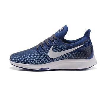 Nike Air Zoom Pegasus All Out Flyknit Light Blue White Black