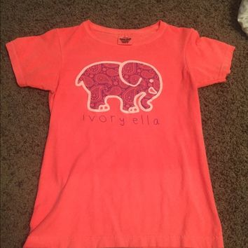 Coral Ivory Ella small short sleeve women's tee