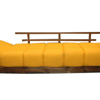 Mod Floating Daybed Sofa 70's Mid Century Modern