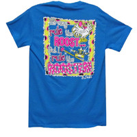 Bjaxx Funny He May Rule the Roost But I  Rule the Rooster Blue Girlie Bright T Shirt