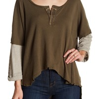 Free People | Hi-Lo Knit Henley | Nordstrom Rack