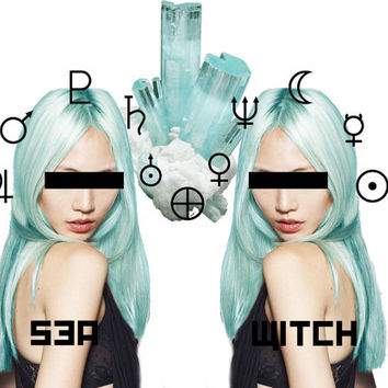 Pastel Turquoise Hair Dye by LunarTidesHair on Etsy