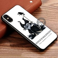 Funny Cartoon Stitch Maleficent iPhone X 8 7 Plus 6s Cases Samsung Galaxy S8 Plus S7 edge NOTE 8 Covers #iphoneX #SamsungS8
