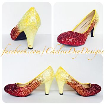Wildflower Ombre Glitter High Heels