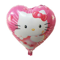high quality hello kitty balloon hello kitty birthday KT party supplies hello kitty party favors foil balloon 18inch