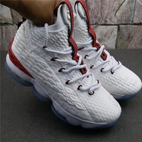 Nike LeBron 15 - White / Team Red
