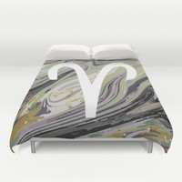 ARIES Duvet Cover by KJ Designs