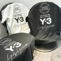 Adidas Y3 Summer Couple Cotton T-Shirt Top Black White