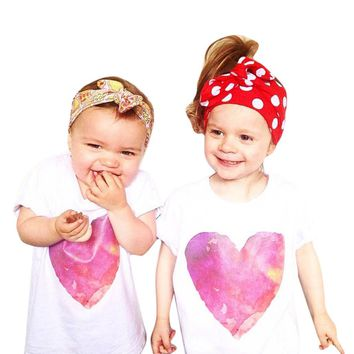 Mommy and Me matching Heart Shirts