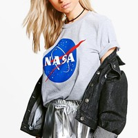 Emma Nasa License T-Shirt | Boohoo