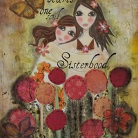 Two hearts one soul Sisterhood Art Print