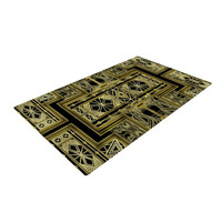 "Nika Martinez ""Golden Art Deco"" Woven Area Rug"