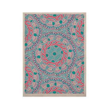 "Miranda Mol ""Prismatic White"" Blue Pink Abstract KESS Naturals Canvas (Frame not Included)"