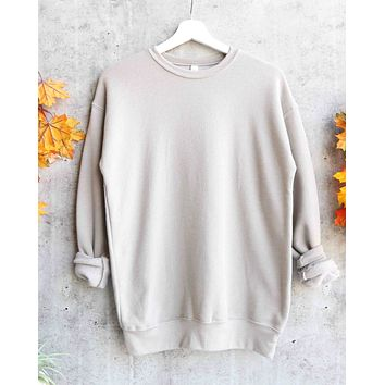 distracted - Unisex Sponge Fleece Drop Shoulder Pullover Sweatshirt - stone