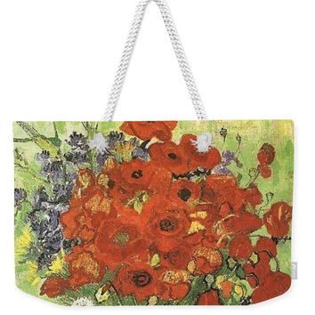 Vincent Van Gogh Poppies With Daisies - Weekender Tote Bag