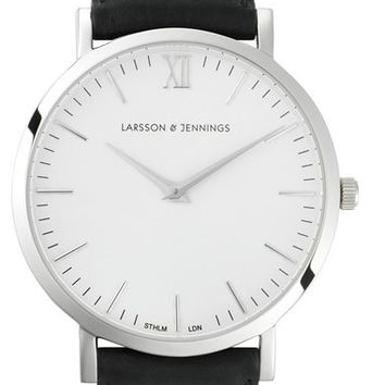 Larsson & Jennings 'Lader' Leather Strap Watch, 40mm | Nordstrom