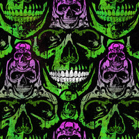 Skull pattern,artwork,art,green,purple,black,gothic,goth,skull,home decor,digital print,poster