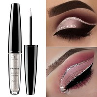 Pudaier Liquid Glitter Eyeliner Maquiagem Profissional Metallic Silver Waterproof Shimmer Eyeliner for Eyeshadow Eyes Makeup
