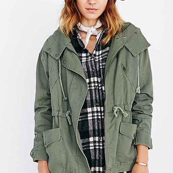 Margot Hooded Oversized Parka- Olive