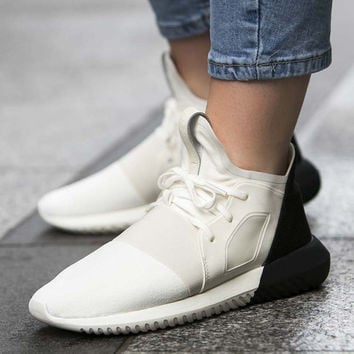 """Adidas"" Tubular Defiant Women Men White Black Casual Sports Shoes"