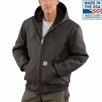 Carhartt Made in USA Duck Active Quilted Flannel Line Jacket | Gravel