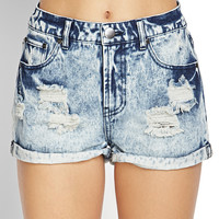 Rolled-Up Distressed Shorts