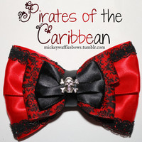 Pirates of the Caribbean Hair Bow by MickeyWaffles on Etsy