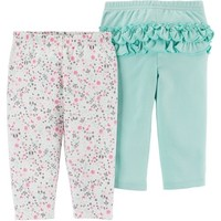Child of Mine by Carter's Newborn Baby Girl 2 Pack Pant - Walmart.com