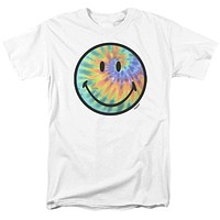 Mens Smiley World/Tie Dye Face T Shirt