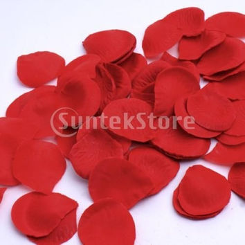 300pcs Silk Rose Petals Wedding Decoration Flowers = 1932492164