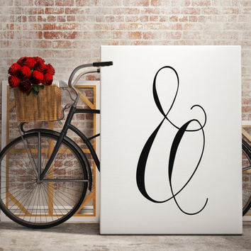 Inspiring Ampersand Wall Print Home Decor Office Decor Bedroom Decor Typography Print Home Decor Modern Art Girls Room Art Fancy Romantic