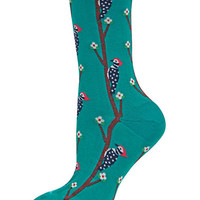Hot Sox Woodpecker Print Crew Socks