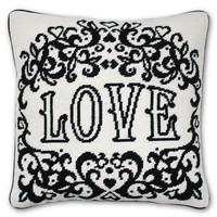 Jonathan Adler Victorian LOVE needlepoint pillow