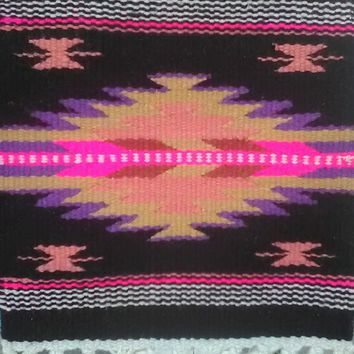 "Aztec Design Table Rug, #3 10"" by 10"""