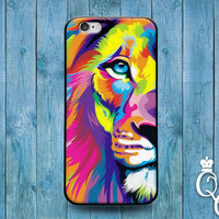 iPhone 4 4s 5 5s 5c 6 6s plus iPod Touch 4th 5th 6th Generation Cute Rainbow Lion Face Custom Phone Cover Cool Animal Amazing Beautiful Case