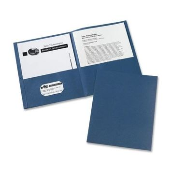 "Avery Consumer Products Two Pocket folder, 8-1-2""x11"",20 Sht Cap., 25-BX, Dark Blue - CASE OF 3"