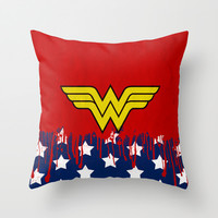 "Wonder ""Princess Diana of Themyscira"" Woman Throw Pillow by Some_Designs"