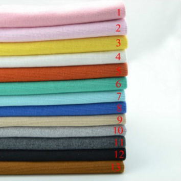 stretchy cotton knitted fabric hot sale  20 *100CM 2x2  sweater cotton rib fabric sportswear close cuff fabric